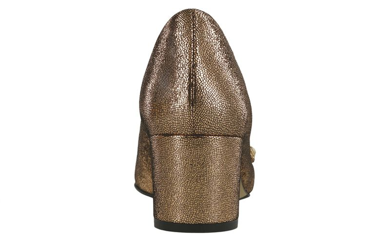 Lena R Gold Sparkle Right Rear View