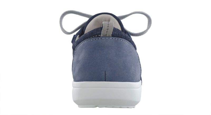 Marnie Blue Jay-Nubuck Right Rear View