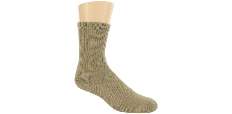 Thorlo Crew Medium Khaki Socks Model View