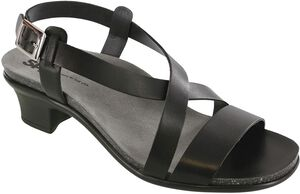 Nouveau Cross Strap Heel Sandal