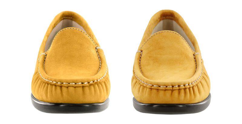 Simplify Mustard Nubuck Pair Front View