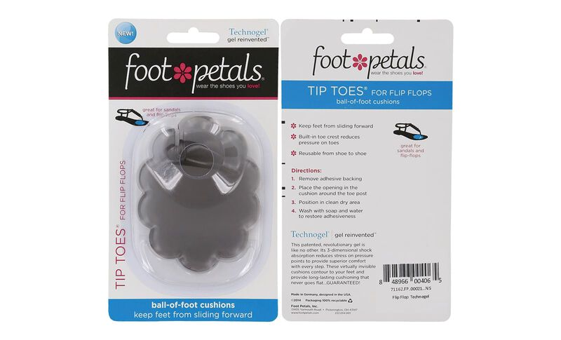 Foot Petals Flip Flops Gel Technogel