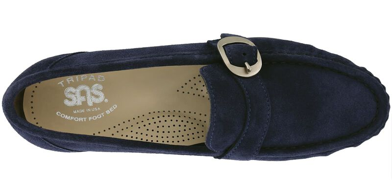 Lara Navy Suede Left Top View