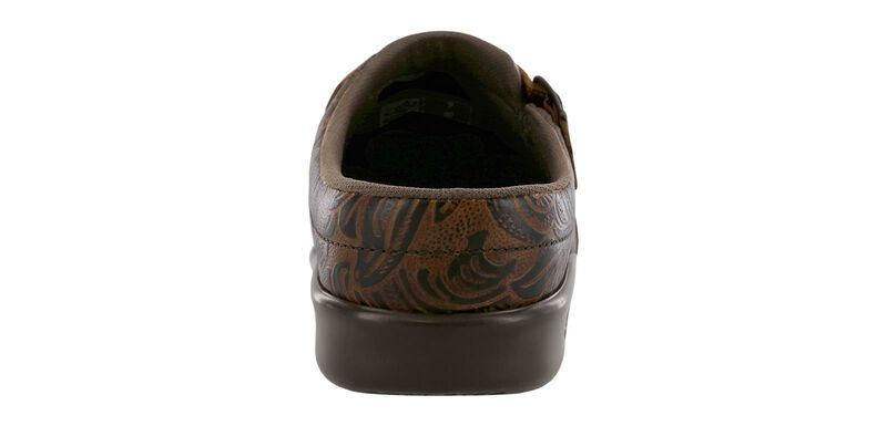Clog Cowboy Floral Right Rear View