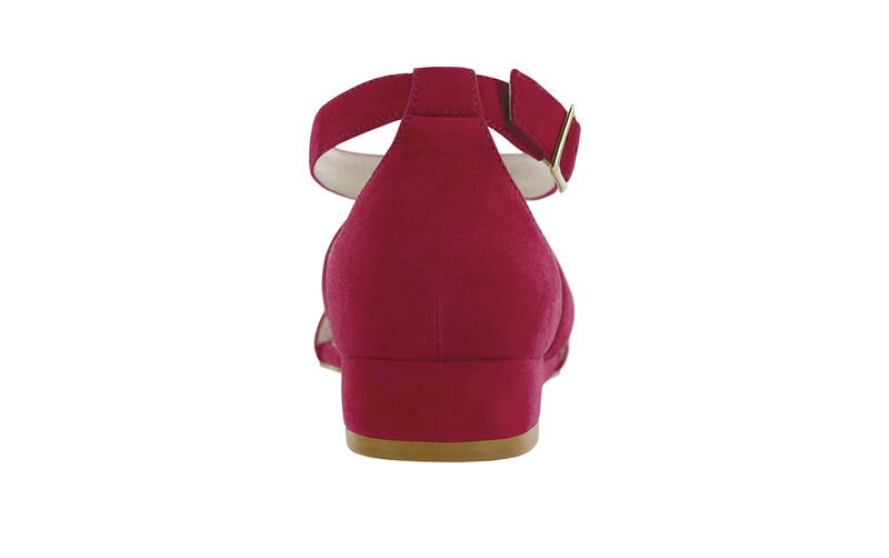 Simone Suede Fuchsia Right Rear View